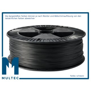 MULTEC®  PP Filament   Flammschutzklasse UL94 V2    Ø 2,85   1000 g   schwarz